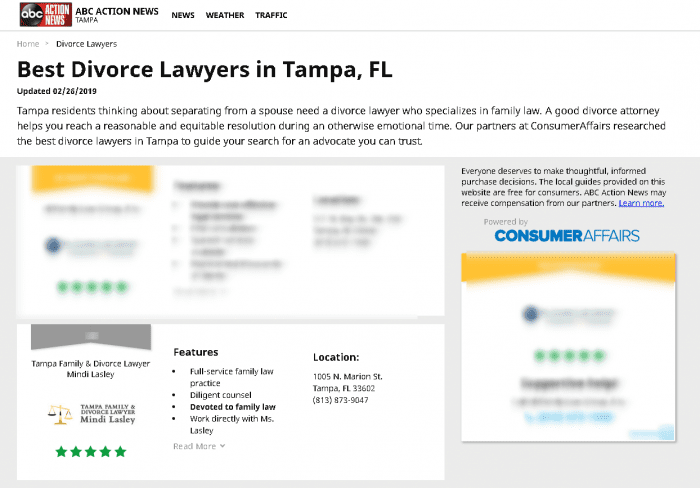 Top Tampa Divorce Lawyer